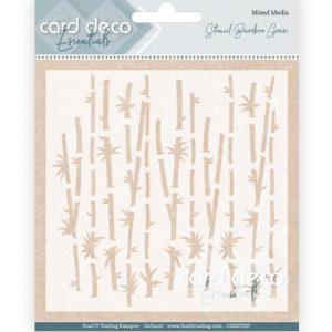 card-deco-essentials-stencil-bamboo-grass-cdest007