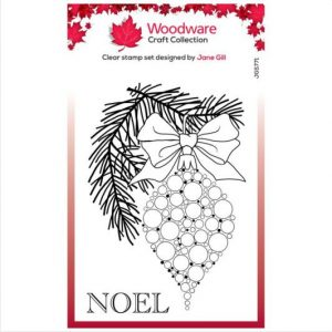 Woodware-stempel-clear-singles-bubble-and-pine-branch-JGS771