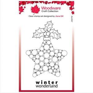 Woodware-stempel-clear-singles-bubble-bauble-and-holly-JGS772
